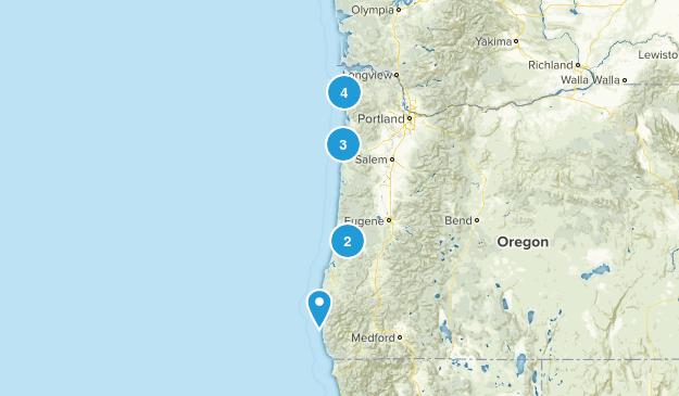 Oregon Coast/Coast Range Map