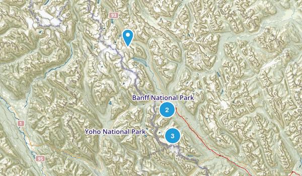 Lake Louise hikes Map