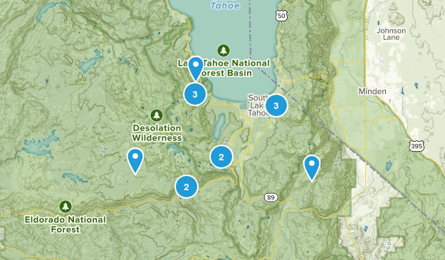 South Lake Tahoe Trails Map