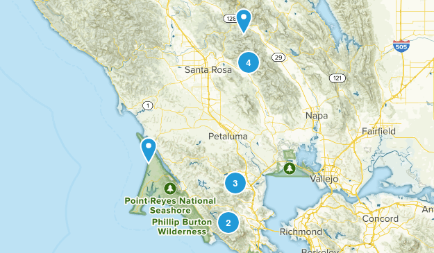Weekend Hikes Map
