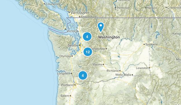 Moderate Washington Trails Map