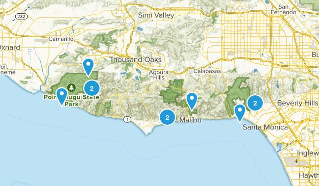 10 miles or less malibu area Map