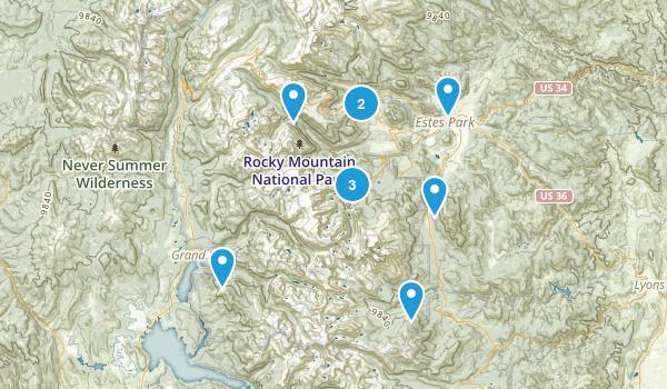 Estes Park, CO Map