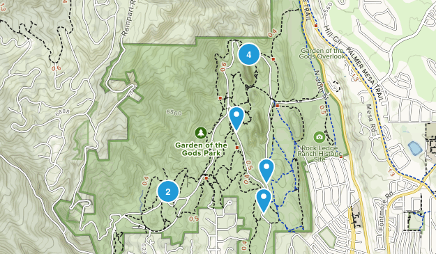 Garden of the Gods Trails Map