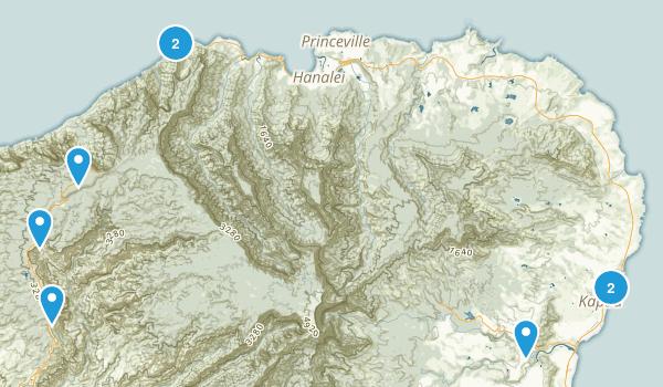 Kauai Hikes  Map