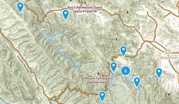 Marin lakes Map