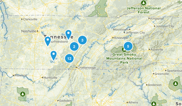 Tennessee Trails Map