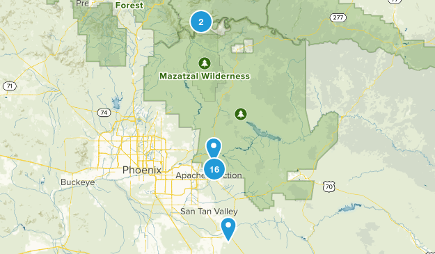 Apache Junction-Tonto National Forest Map