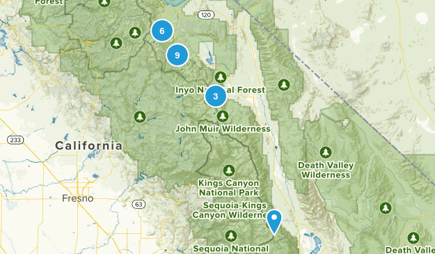 Inyo Hikes Map