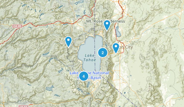 Lake Tahoe Map