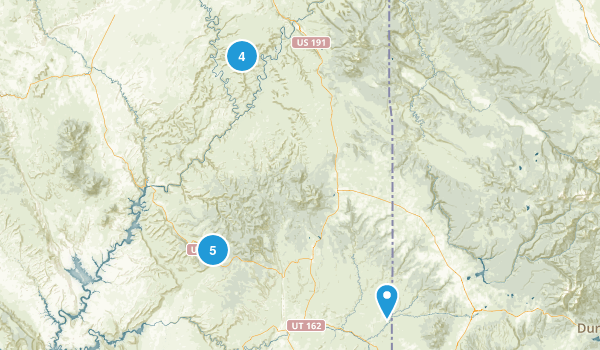 Canyonlands 2017 trip Map