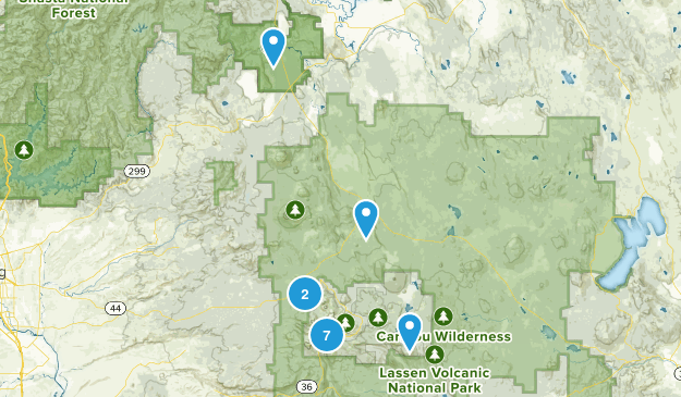 Lassen National Park Map