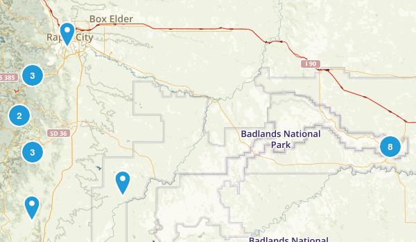 Badlands National Park / SD Map