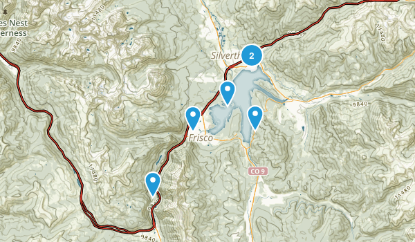 Breck Hiked Map
