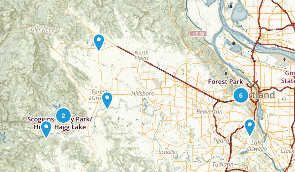 Portland, Oregon Map
