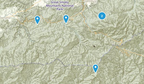 Townsend/Gatlinburg areas Map