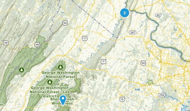 Appalachian Trail: West Virginia: Best Day Hikes Map