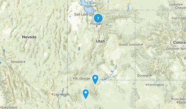 Top hikes in utah Map