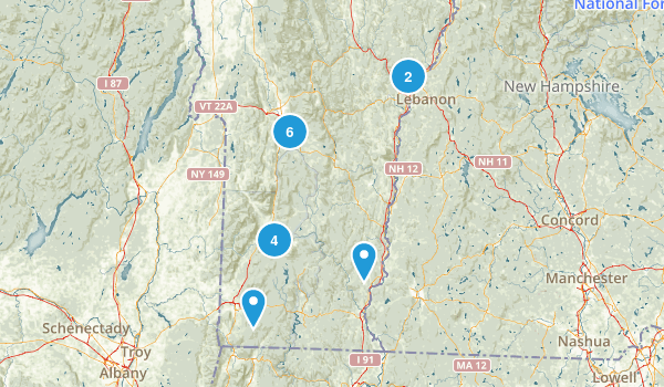 Appalachian Trail: Vermont: Best Day Hikes Map