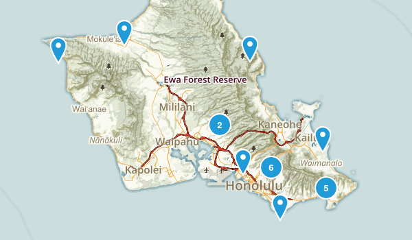 To Be Hiked Map