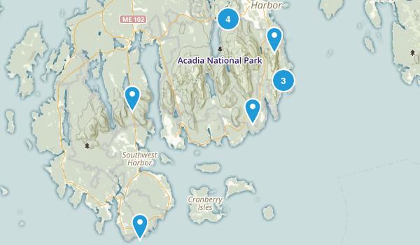 Acadia Trip Map