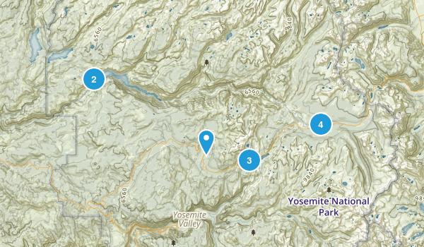 Tuolumne Hikes Map