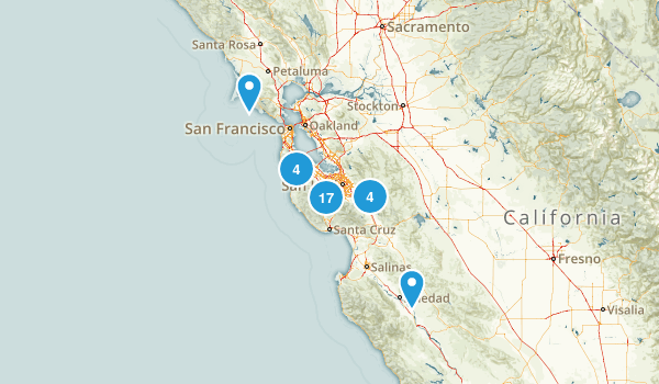 Practice hikes Map