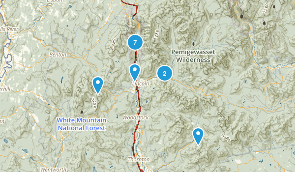 White Mountains  Map