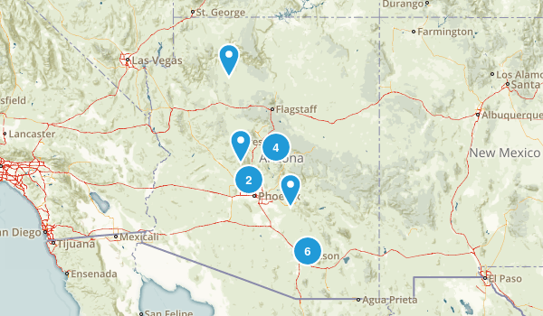 AZ Waterfall Hikes Map