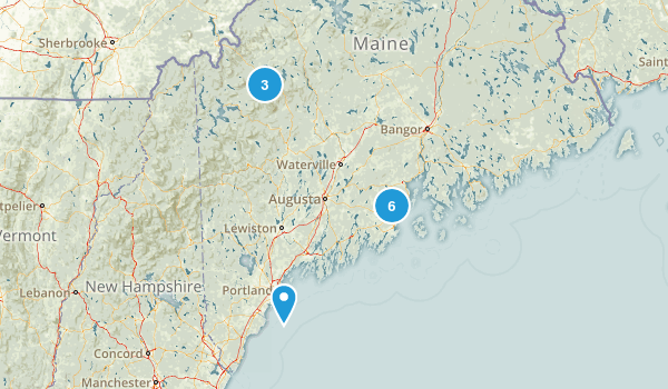 Maine Trail Map