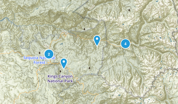 kings canyon Map