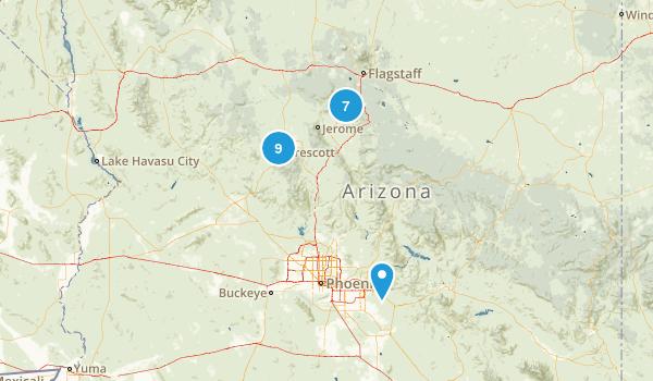 Arizona ToDo Hikes Map