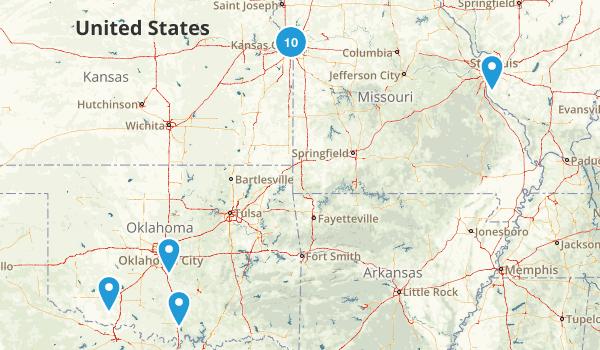 KC/STL/BHAM/OKC Map