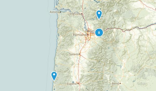 Oregon/Mt St Helens Map