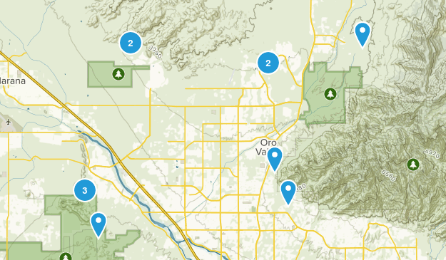 possible hikes Map