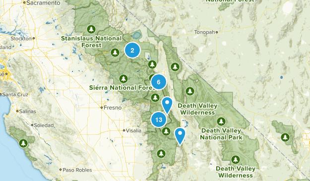 Sierra Backpacking Trails Map