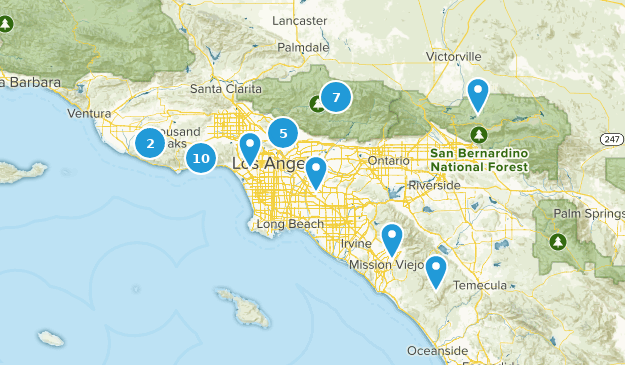 LA Day Hike Map