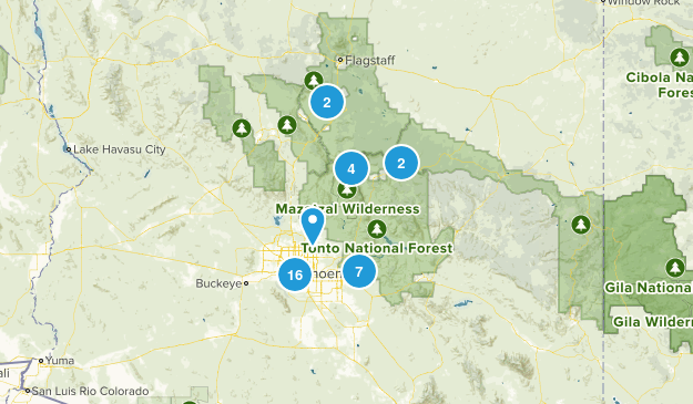 trails to hike 2018 Map