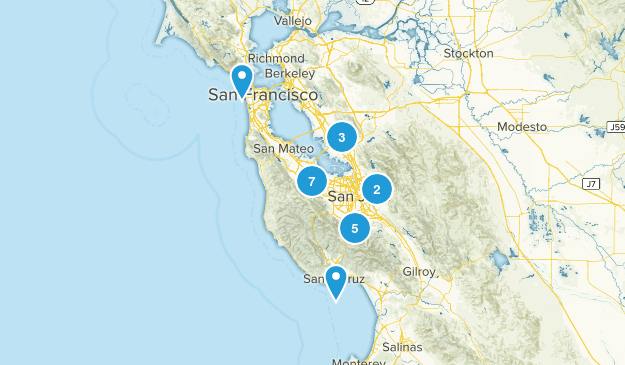 South Bay Trails I've Completed Map