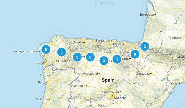 Camino de Santiago Frances Map