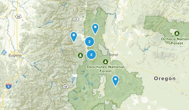 Deschutes National Forest Map