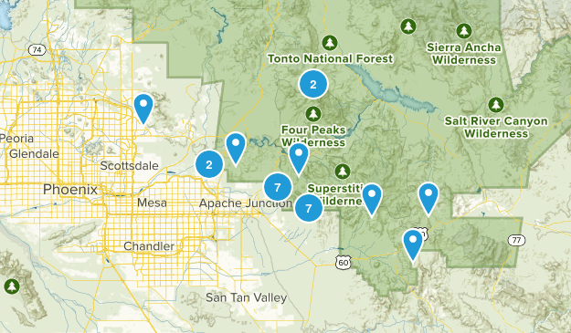 Superstition Mountains Map