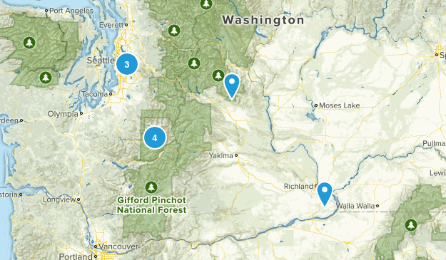 2-3 mile hikes Map