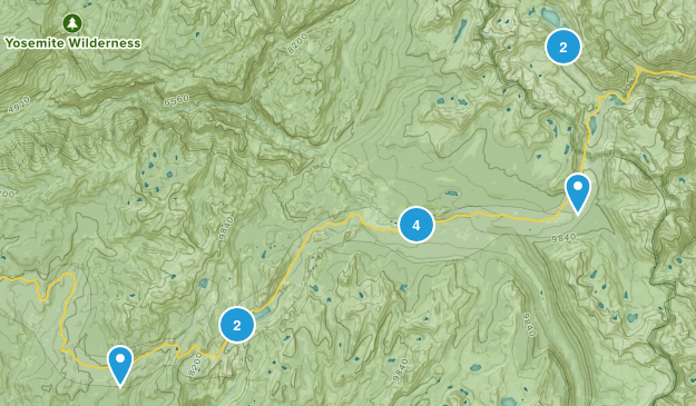 Tioga Pass Map