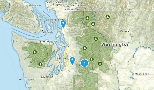 "Local ""Medium"" Day Hikes Map"
