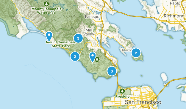 Marin County Trails Map