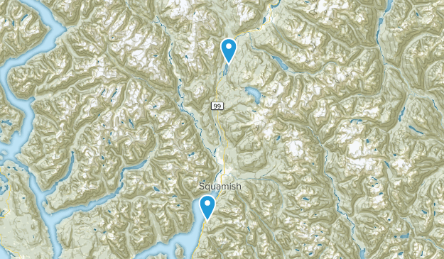 Squamish Road Trip Map