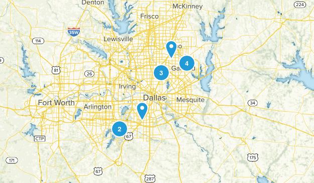 Dallas Texas Trails Map