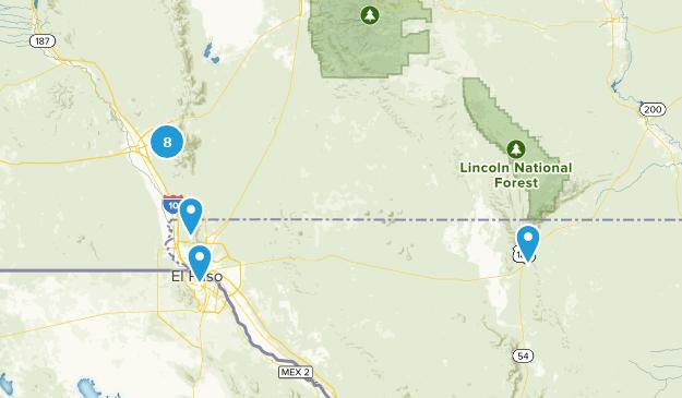 El Paso Area Hikes Map
