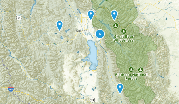 Flathead Nat'l Forest Day Hikes Map